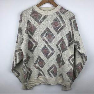 Vintage Oversized Grandpa Sweater   80s Vintage